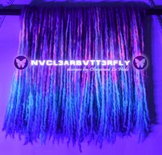Handmade wooldreads from @nvcl3arbvtt3rfly #nvcl3arbvtt3rfly #wooldreads #holidayspecial #violethair #violetdreads #orchidsky #skyblue #tealhair #pinkdreads #bluehair #bluedreads #bluewave #purplerain #shortdreads #woolies #instadreads #fauxlocs #protectivestyles #altfashion #handmade #cheyennehale #neonhair #UVhair #UVdreads Teal Hair, Violet Hair, Wool Dreads, Dreadlocks, Pink Dreads, Short Dreads, Galaxy Hair, Synthetic Hair Extensions, Faux Locs