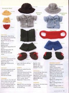 Clothing for Edward Bear - Your Knitting Life 2012 June July