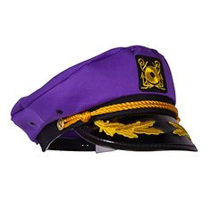 d9a54437e2f Captain Ford s Neon Purple Captain Hat for fashionista s of any age who  want to make a