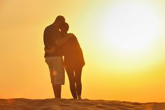 Couple enjoying the sunset  #Image #Photo