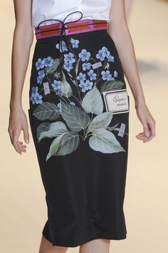 1263f49a35888 Floral Fashion, High Fashion, Spring Fashion, Botanical Illustration,  Carolina Herrera,