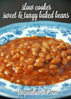 Do you love the combination of sweet and tangy? Then you will definitely want to try these Slow Cooker Sweet and Tangy Baked Beans. Slow Cooker Beans, Best Slow Cooker, Crock Pot Slow Cooker, Crock Pot Cooking, Crockpot Dishes, Crockpot Recipes, Cooking Recipes, Grilling Recipes, Baked Bean Recipes