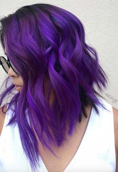 63 Purple Hair Color Ideas to Swoon Over: Violet & Purple Hair Dye Tips How to Maintain Violet Hair Bright Purple Hair, Dyed Hair Purple, Lilac Hair, Hair Color Purple, Cool Hair Color, Purple Ombre, Light Purple, Violet Hair Colors, Purple Tips
