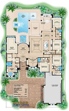 mediterranean style house plan 4 beds 4 baths 5607 sqft plan 27 454 floor plan main floor plan houseplanscom
