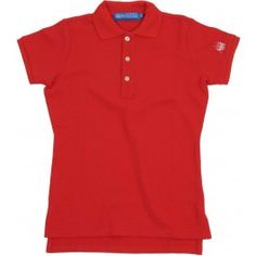 Ladies Plain Polo Shirt - Red £65.00- Complete with lock stitched Polistas branded buttons and our traditional classic feminine fit, this 100% cotton pique twill weave polo is the epitome of classic polo style. The Plain Polo is casual enough for the house and stylish enough for the polo field; whether your competing or cheering on your favourite team.