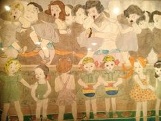 A detail of a work by HENRY DARGER, one of the most significant self-taught artists of the 20th century, at the Museum of Everything Paris Pop-Up until 27th February at 14 boulevard Raspail, 75007, Paris. Photo Annabel Fernandes