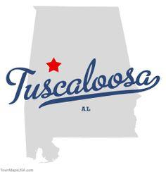 Map of Tuscaloosa Alabama AL