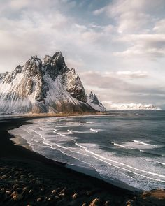 Stokksnes Icelandic Mountain Beach Sunset - Landscape Photography by Michael Schauer