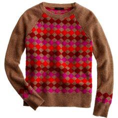Lambswool Diamond Sweater ($90) ❤ liked on Polyvore