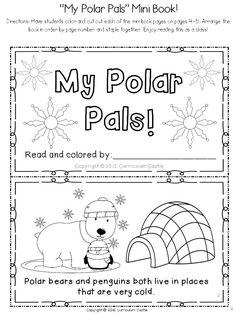 Polar Bears and Penguins Mini Book! $