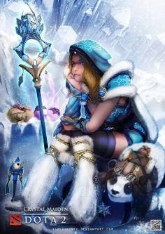 Crystal Maiden - Dota 2 Fan Art Created by Kevin Glint (Nahnahnivek) / Follow this artist on DeviantArt &amp