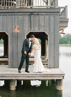 SOUTHERN WEDDINGS | Picture perfect Romona Keveza bride Christy wears Legends gown L5104 at her Georgia wedding on the water.