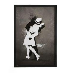 End of War Kiss Framed Poster - 66 x 99 by New Posters - Matt Blatt