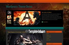 Wordpress Themes - Dark Games Wordpress Theme #wordpress #wordpressthemes #games