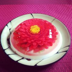Flower Jello Puding Art, 3d Jelly Cake, Jelly Flower, Culinary Arts, Creative Food, Cake Art, Party Cakes, Cupcake Recipes, How To Make Cake