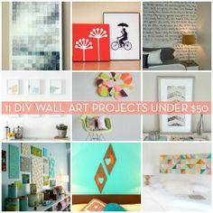 21 Daily Do It Yourself Tutorials. This would be super cute with bright spring colors!