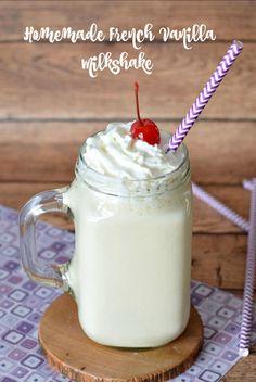 Homemade French Vanilla Milkshake Recipe