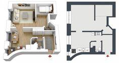 Kis lakás - sok személyes holmi vagy a csak a szükséges minimum - egy 38 és egy 29m2-es lakás
