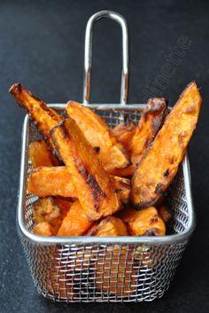 frites de patates douces au four: astuce pour qu'elles soient croustillante : le blanc d'oeuf