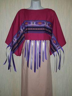 ribbon dress native pow wow red