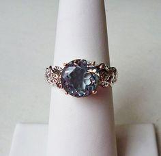 Ipnotizzante anello acquamarina sirena in stile di LaPlumeNoir