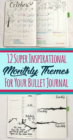 Never run out of monthly theme ideas for your bullet journal ever again! These 12 inspirational bullet journal monthly theme ideas will make your bujo the envy of your friends. Great for anybody who wants to learn how to start a bullet journal! Never worry about finding ideas to decorate your page setup again and make your layouts shine! #bulletjournaling #bulletjournal #diy #creativity #inspirational #themes #bulletjournalcommunity #bujo #plannercommunity