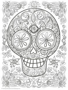 Day of the Dead Adult Coloring and Activity Book – Kay's Crochet Patterns