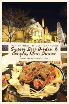 Check out one of the top things to do in Sapporo, Hokkaido Japan, Sapporo Beer Garden & Genghis Khan Dinner. Have you been to a Japanese beer garden before? Japanese Beer, Japanese Dishes, Asia Travel, Japan Travel, Travel Tips, Japan Trip, Travel Articles, Places Around The World, Travel Around The World