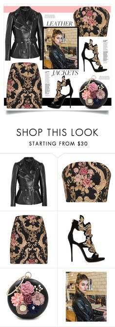 """Cool Girl Style: Leather Jackets"" by southindianmakeup1990 ❤ liked on Polyvore featuring Alexander McQueen, Giuseppe Zanotti, WithChic and Superdry"