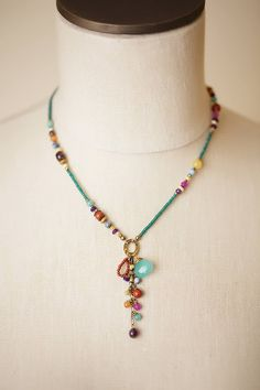 Handcrafted Chunky Focal Gemstone Necklace for Women | by Anne Vaughan