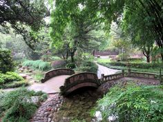 Wangjianglou Park in Chengdu, Sichuan, China, features an exquisite Chinese garden. Sichuan China, Chinese Garden, Chengdu, Garden Bridge, Outdoor Structures, Park, Parks