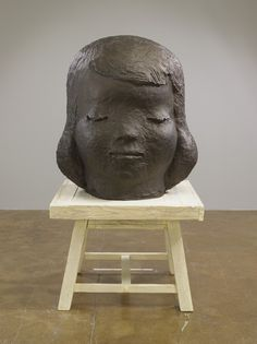 "Yoshitomo Nara  When You Feel So Sad, 2012  bronze  63-7/8"" x 35-1/2"" x 35-1/2"" (162.2 cm x 90.2 cm x 90.2 cm), overall installed"
