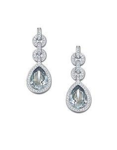 Swarovski Adore Drop Earrings Women's Silver