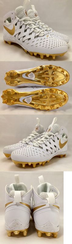 Footwear 159154: Nike Huarache V Lax Gold White Lacrosse Cleats Size 9 -> BUY IT NOW ONLY: $89.97 on eBay!