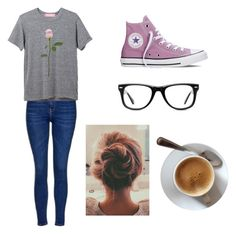 """""""Hopelessly Devoted To You"""" by clairetrask ❤ liked on Polyvore featuring Converse, Topshop and Muse"""