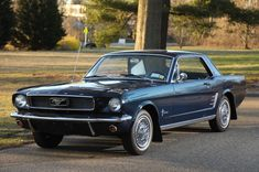 Bid for the chance to own a 1966 Ford Mustang Hardtop at auction with Bring a Trailer, the home of the best vintage and classic cars online. Blue Mustang, 1966 Ford Mustang, Mustang Cars, Cool C, Classic Mustang, Shelby Gt500, Car Covers, Classic Cars Online, Automatic Transmission