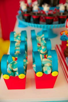 Circus Birthday Party via Karas Party Ideas. Cute candy containers.