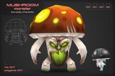 Mushroom Monster by stallfish's art store on @creativemarket