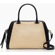 Kate Spade Charles Street Brantley (16.390 RUB) ❤ liked on Polyvore featuring bags, handbags, handbag satchel, beige handbags, zip purse, kate spade handbag and color block purse