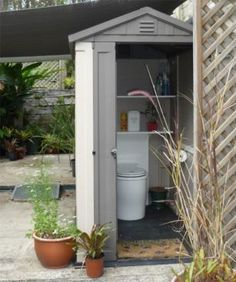Quick Buy Toilets & Sheds - Ecoflo Wastewater Management Small Prefab Cabins, Outdoor Toilet, Cabins For Sale, Composting Toilet, Homesteading, Sustainability, Management, Outdoor Structures