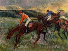 Edgar Degas | Horse racing /Corse di cavalli | Tutt'Art@ | Pittura * Scultura * Poesia * Musica |