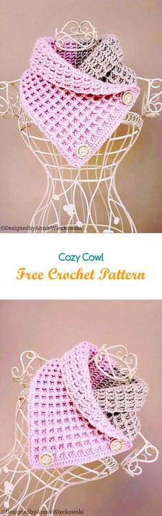 Cozy Cowl Free Crochet Pattern #crochet #crafts #shawl #fashion