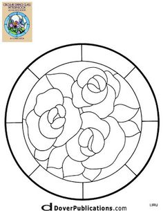 ★ Stained Glass Patterns for FREE ★ glass pattern 290 ★ Stained Glass Quilt, Stained Glass Flowers, Faux Stained Glass, Stained Glass Designs, Stained Glass Projects, Mosaic Designs, Stained Glass Patterns, Mosaic Patterns, Stained Glass Windows