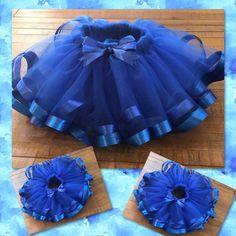 more like Sunday funday! Check out our blue on blue tutu! Tutu Diy, Diy Tutu Skirt, Tutu Skirt Kids, Tutu Azul, Tutu Outfits, Kids Outfits, Little Girl Closet, Ribbon Tutu, Kids Frocks Design