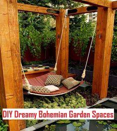 DIY Dreamy Bohemian Garden Spaces Ideas