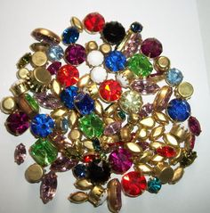 Swarovski Rhinestone Chain 6mm 30ss Spring Light Multi 1 Ft Brass