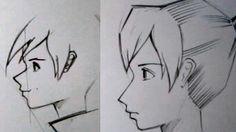 Как рисовать аниме в профиль