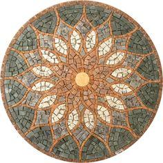 Revestimentos: Rosone Ou Mandala De Mosaico - Vitral Árabe R026 80Cm