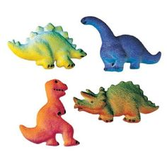 Lucks DecOns Decorations Molded SugarCupCake Topper Dinosaur Assortment 225 Inch 120 Count ** More info could be found at the image url.(This is an Amazon affiliate link and I receive a commission for the sales)