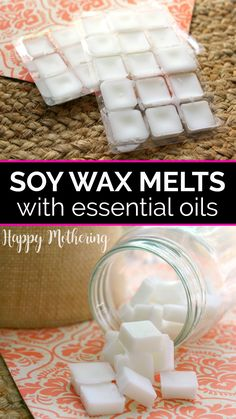 Learn how to make the best soy wax melts scented with essential oils in this easy DIY tutorial. Customize this recipe for homemade wax warmer tarts with your favorite scent and get ideas for easy hacks like reusing old packaging! Your home will smell great with these awesome fragrance melts. #waxmelts #soywaxmelts #soywax #waxwarmers #diywaxmelts #diy #howto #essentialoils #essentialoiluses #essentialoilrecipes #homemakeing #makeityourself #doityourself #homefragrance Diy Wax Melts, Scented Wax Melts, Essential Oils Cleaning, Essential Oil Scents, Soy Wax Flakes, Easy Hacks, Wax Warmers, Diy Skin Care, Soy Candles